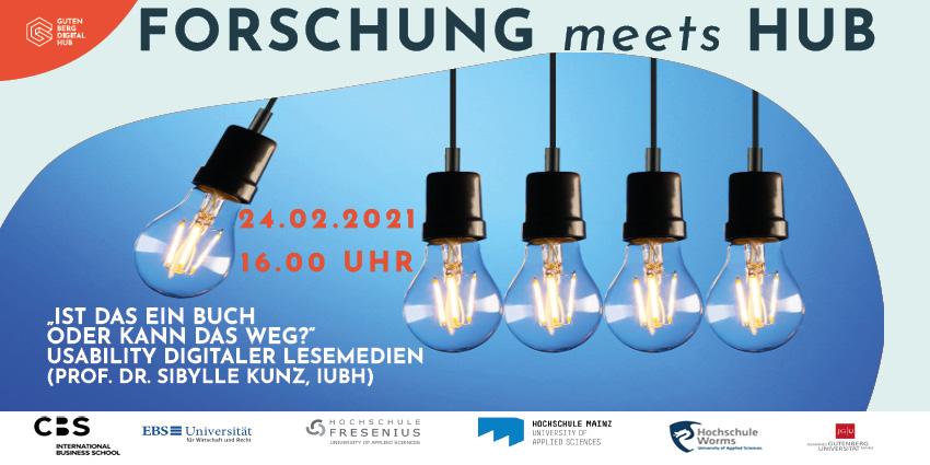 Forschung meets Hub - Vortrag 2m 24.02.2021